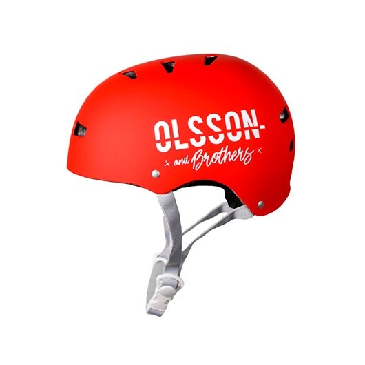CASCO OLSSON TALLA ML NINO ROJO