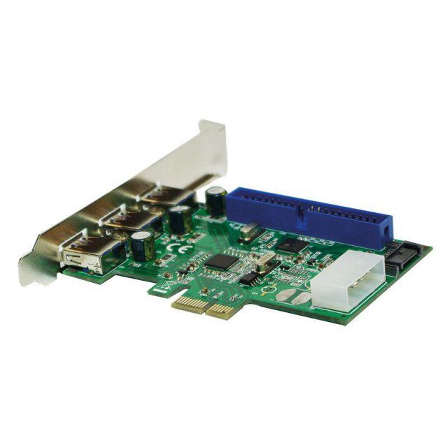 Ver CONTROLADORA MINI PCIE 3xUSB 3 0 SATA IDE LOGILINK
