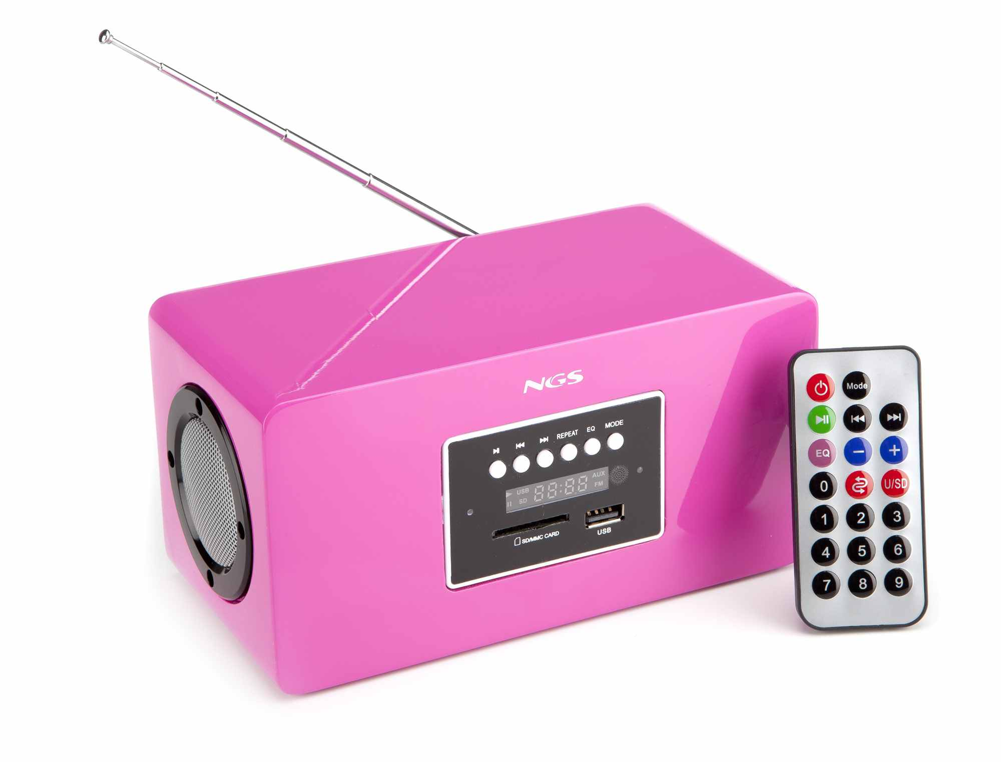 Radio Mp3 Ngs Roomy Fucsia Usbsd