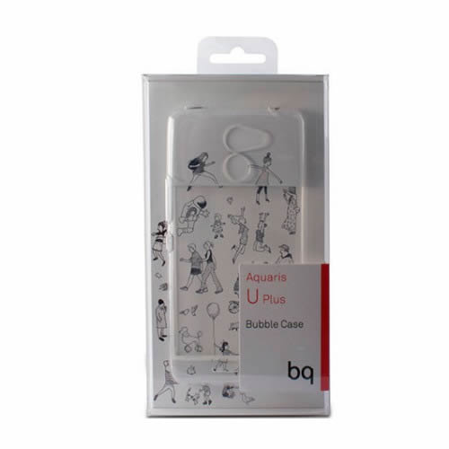 Ver FUNDA MOVIL BQ AQUARIS U PLUS BUBBLE TRANSPARENTE