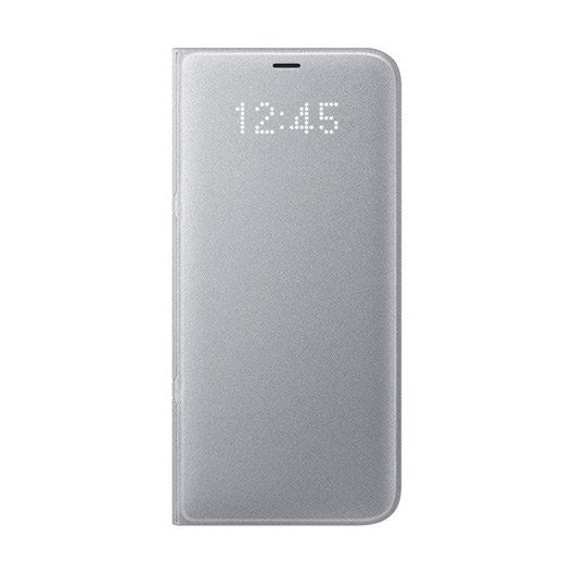 Ver FUNDA MOVIL SAMSUNG GALAXY S8 RELOJ LED PLATA