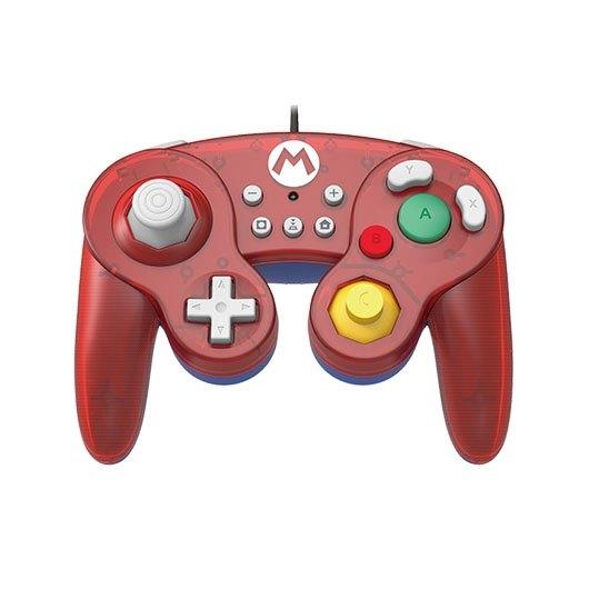 Gamepad Hori Battle Mario Rojo