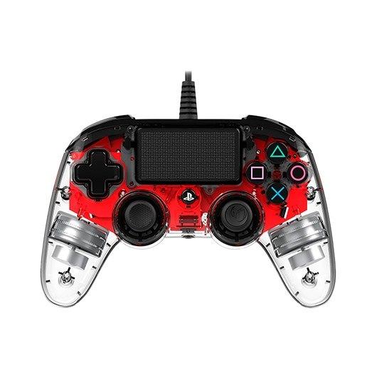 GAMEPAD NACON PS4 CRISTAL ROJO