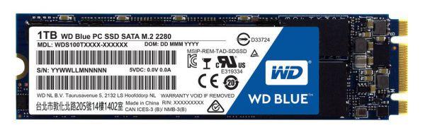 Ver WD M2 SSD 1TB SATA3  BLUE