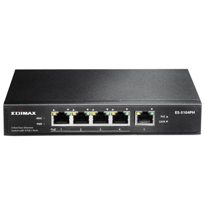 Hub Switch 5 Ptos 10100 Edimax Es 5104ph
