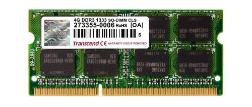 Ver TRANSCEND DDR3 4GB APPLE MAC