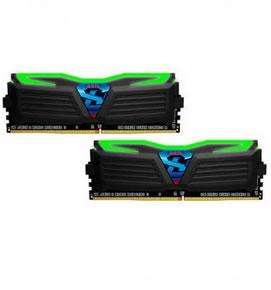 Ver MODULO DDR4 16GB 2X8GB PC2400 GEIL SUPER LUCE VERDE