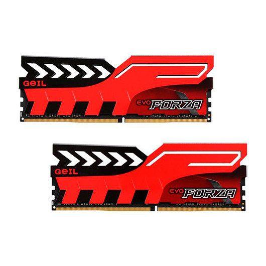 Ver MODULO DDR4 16GB 2X8GB PC3000 GEIL FORZA RED