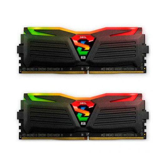 Ver GEIL SUPER LUCE DDR4 16GB 2X8GB PC3000 AZUL