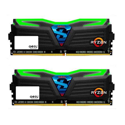Ver MODULO DDR4 8GB 2X4GB PC2400 GEIL SUPER LUCE VERDE