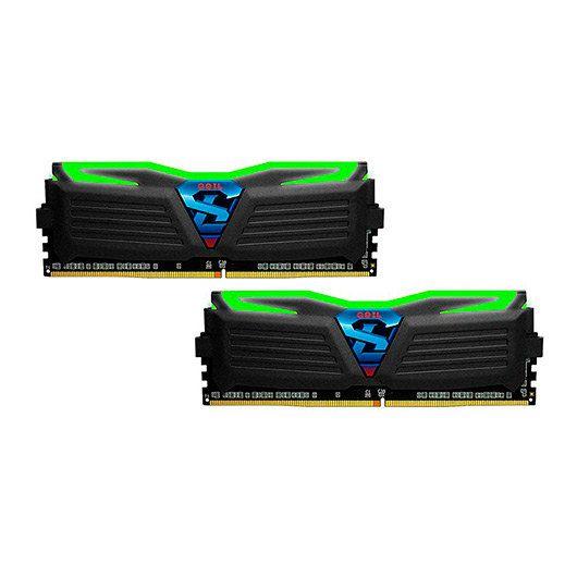 MODULO DDR4 8GB 2X4GB PC2400 GEIL SUPER LUCE BL SUPER LUCE HEATSINK SYSTEMGREEN LIGHT GLG48GB2400C16DC