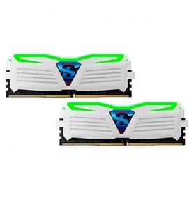 Ver MODULO DDR4 8GB 2X4GB PC2400 GEIL SUPER LUCE BLANCO VERDE