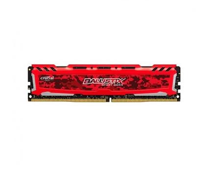 Ver CRUCIAL BALLISTIX SPORT DDR4 8GB PC2666 ROJO