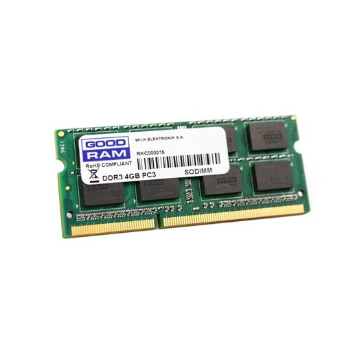 Ver MODULO SO DDR3 4GB PC1600 GOODRAM GR1600S364L11S4G CL11