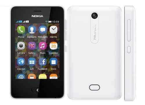 Movil Nokia Asha Dual 501 Blanco