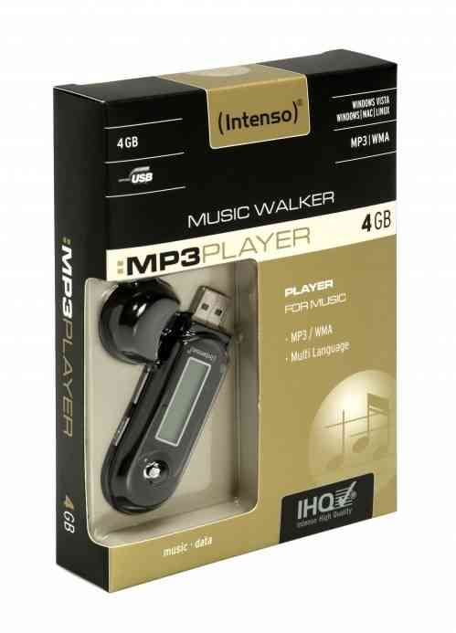 Mp3 4gb Intenso Music Walker Negro
