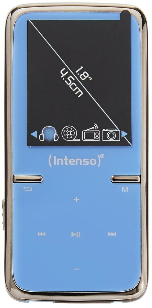 Mp3 8gb Intenso Video Scooter Azul