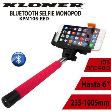 Ver PALO SELFIE KL TECH BLUETOOTH ROJO