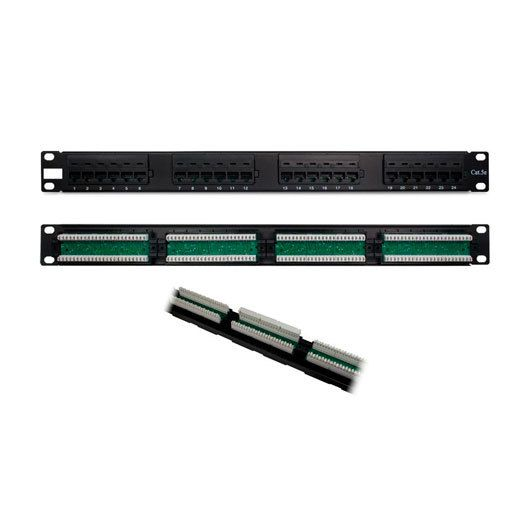 Ver PANEL DE TRANSFERENCIA RACK 1U 24P CAT5 PHASAK