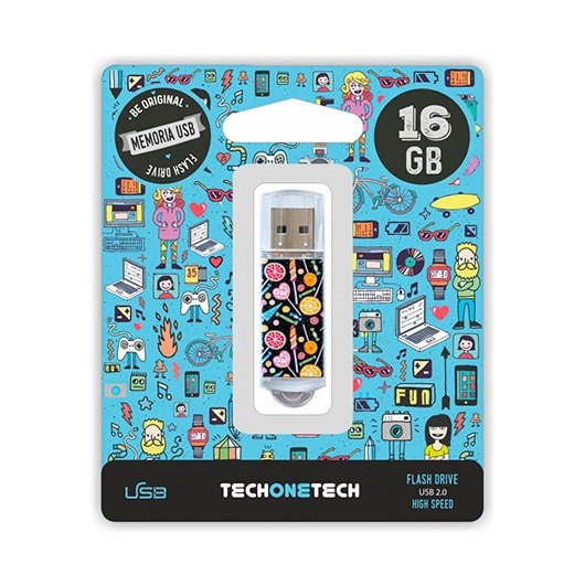 Ver PENDRIVE 16GB TECH ONE TECH CANDY POP