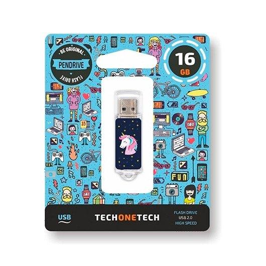 Pendrive 16gb Tech One Tech Unicornio Dream Usb 20 Tec4012