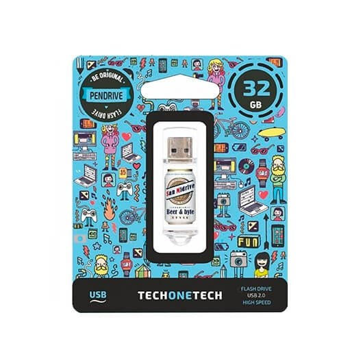 Pendrive 32gb Tech One Tech Beers Bytes San Midrive Cerve