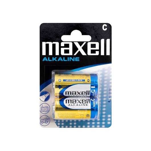 Pila Alcalina Maxell Lr14 C Pack 2 Blister 15v 774417