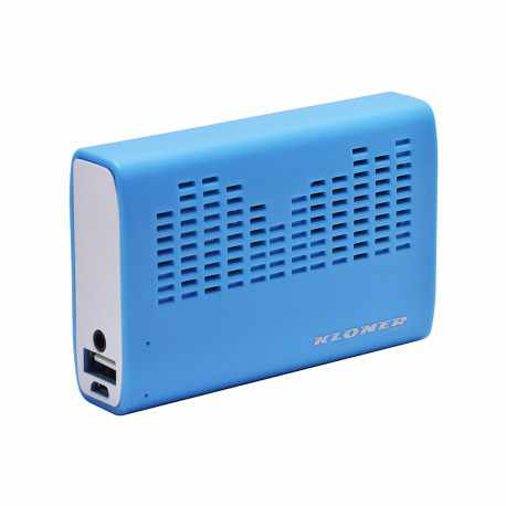 Ver POWERBANK ALTAVOZ KL TECH 3200MAH AZUL