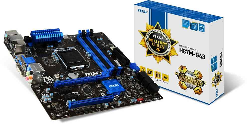 Placa Base Msi 1150 H87m G43
