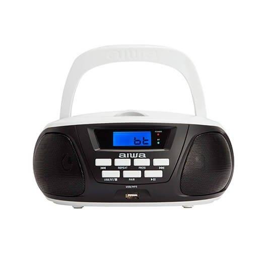 Radio Cd Aiwa Boombox Bbtu 300bw Negro Bluetoothcdusbmp3