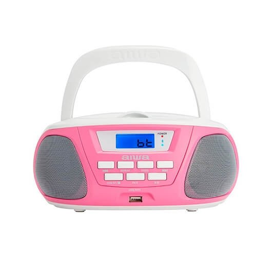 Radio Cd Aiwa Boombox Bbtu 300pk Rosa Bluetoothcdusbmp3