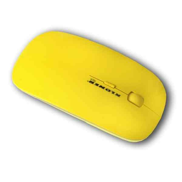 Ver RATON OPTICO KL TECH VUELO CRISTAL AMARILLO USB