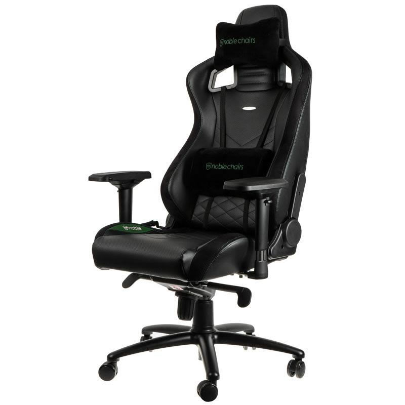 SILLA GAMING NOBLECHAIRS ICON NEGRO VERDE