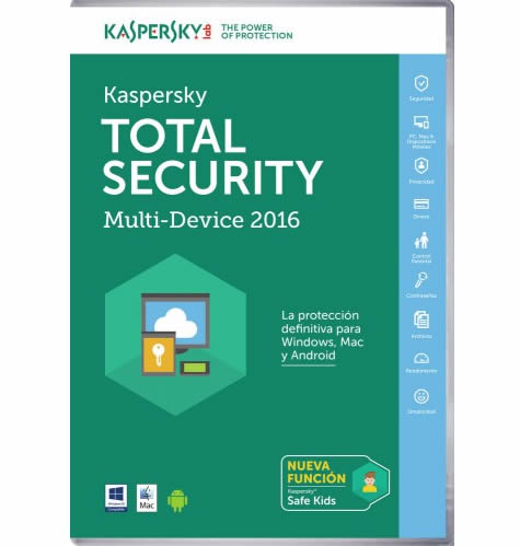 Ver KASPERSKY 2016 TOTAL SECURITY MULTI 3U