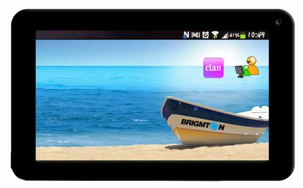 Tablet Brigmton 7 Btpc 700 4gb Negro