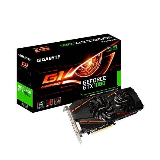 Ver GIGABYTE GTX 1060 G1 GAMING 3GB GDDR5 REV 2