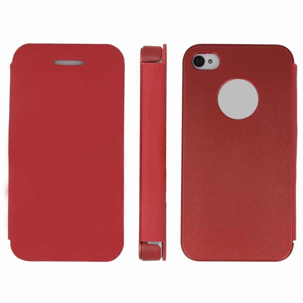 Telef Acc Funda Flip Case Iphone 44s Roja