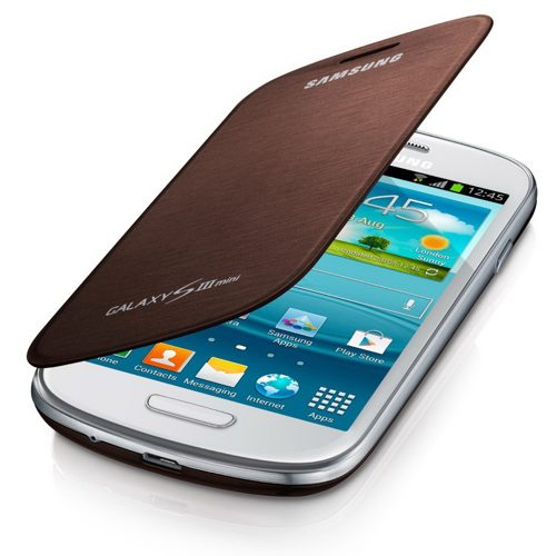 Telef Acc Funda Flipcover Galaxy S3 Mini Marron
