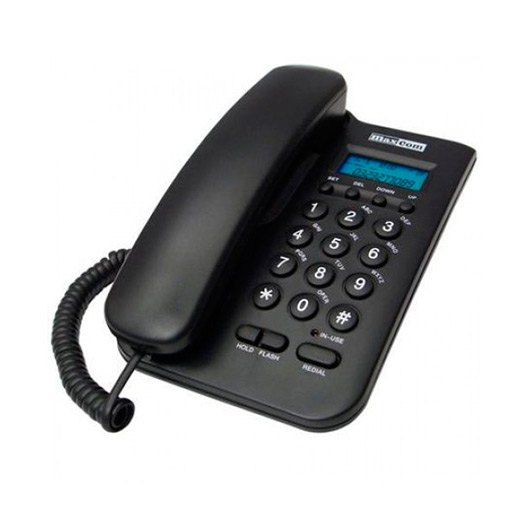 Ver MAXCOM FIXED PHONE KTX100 NEGRO
