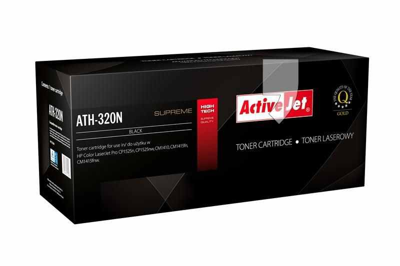 Toner Compatible Hp Ce320a Activejet Negro