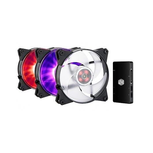Ver VENTILADOR 120X120 COOLERMASTER MASTERFAN PRO120 RGB 3UD