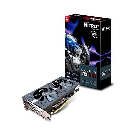 SAPPHIRE RX580 NITRO OC 4GB BACKPLATE GDDR5
