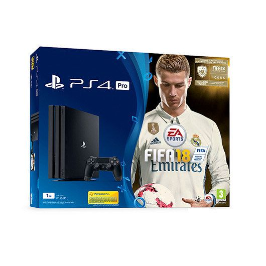 Ver VIDEOCONSOLA SONY PS4 1TB FIFA 18 PS PLUS 14D
