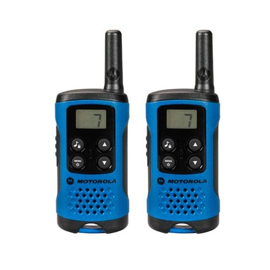 WALKIE TALKIE MOTOROLA TLKR T41 AZUL NEGRO PACKS 2