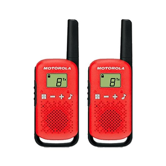 WALKIE TALKIE MOTOROLA TLKR T42 ROJO PACKS 2