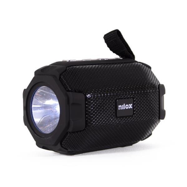 Altavoz Nilox 3w Bluetooth Con Linterna Negro
