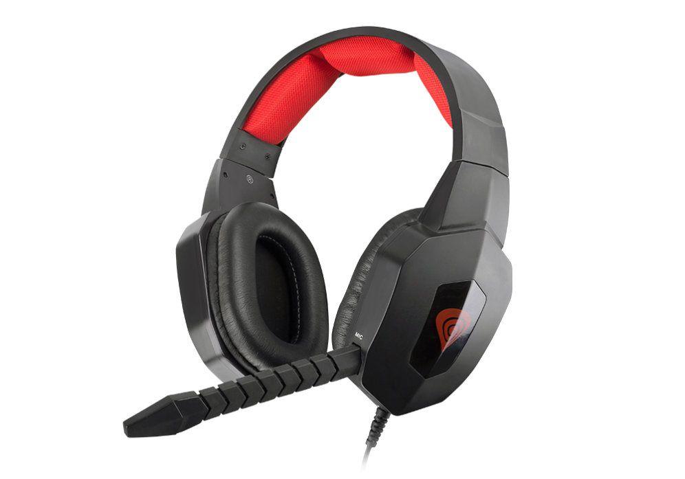 Auriculares Gaming Genesis Argon 400 Negro Rojo