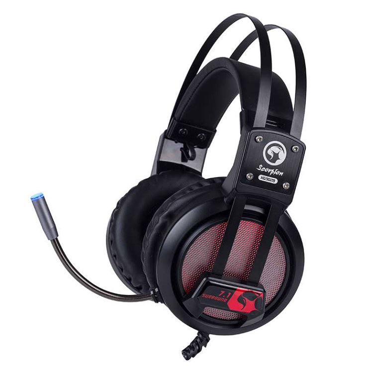 AURICULARES GAMING SCORPION HG9028 71 VIRTUAL CON LUZ LED