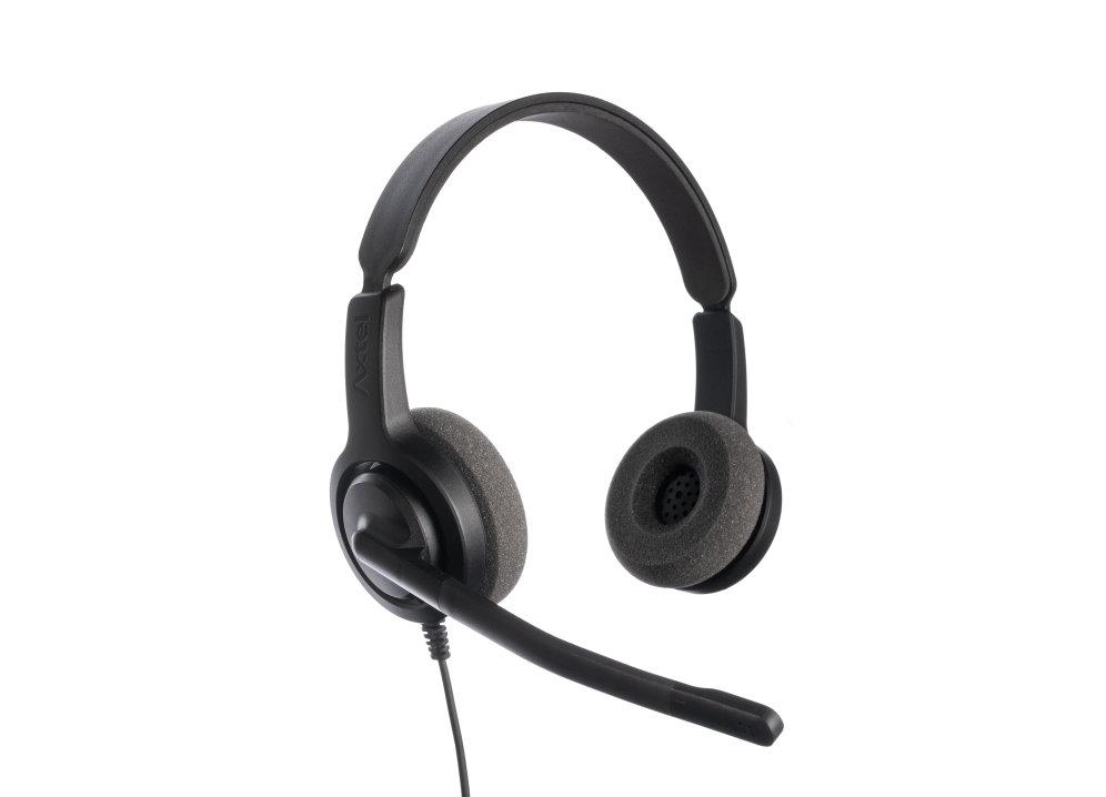 Auriculares Ip Axtel Axh V28d Voice 28 Duo Nc Enchuf Qd Compa Tel Escr Sof Smar