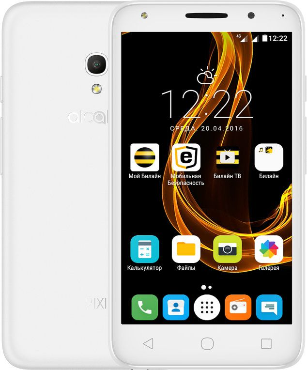 Ver Alcatel PIXI 4 5 4G 8GB blanco 5045D